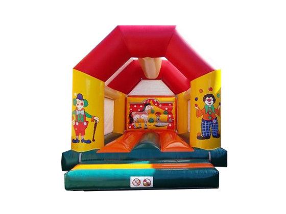 """Château gonflable """"Clown"""" 5m x 6m"""