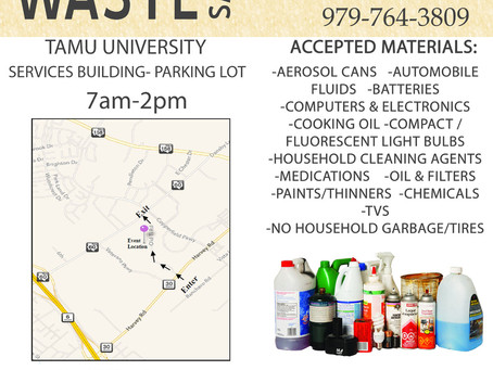 HAZARDOUS WASTE DROP-OFF SATURDAY, APRIL 24