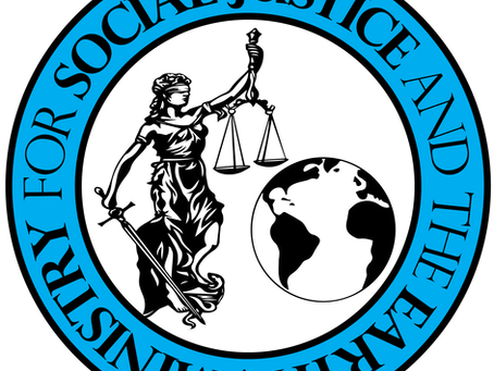 Ministry for Social Justice and the Earth monthly update