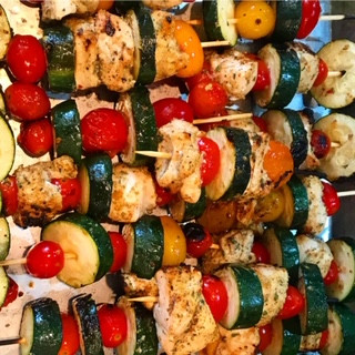 Chicken and Vegetable Skewer