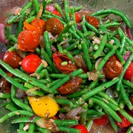 Roasted Tomato and Green Bean Salad