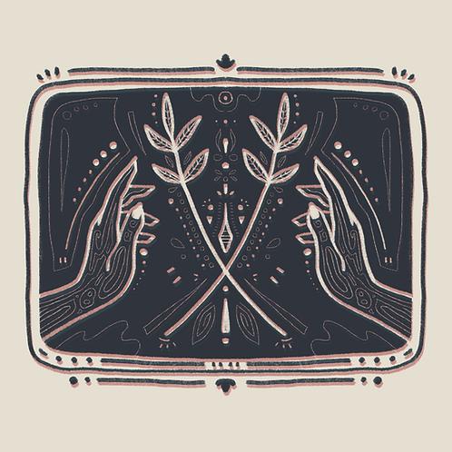 Hand Etching, 8x8 Print
