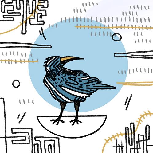 Crow Variation I, 5x5 Print