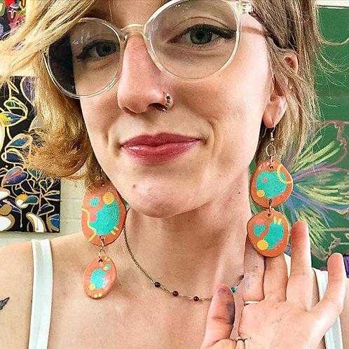 Asymmetrical Groovy Earrings
