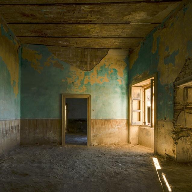 Palais nobiliaire abandonné. Italie.