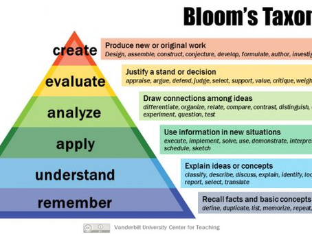 Semester's End and Bloom's Taxonomy