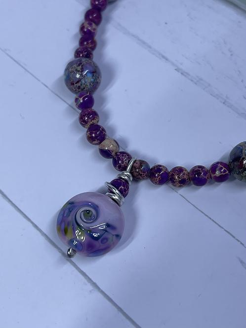 Purple Royal Imperial Jasper necklace
