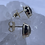 Thumbnail: 14k yellow gold moonstone post earrings