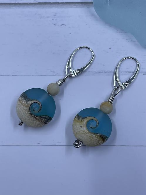 Blue Sky Wave Earrings