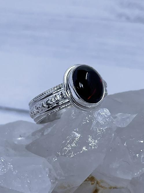 Vertical Garnet Ring