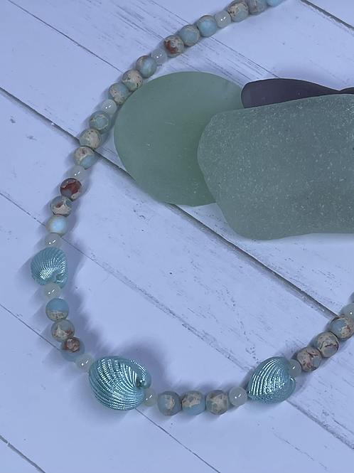 Mint Royal Imperial Jasper Beaded Necklace