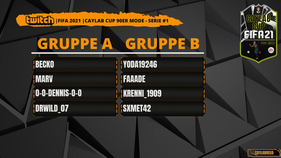 Caylab Cup 90er Gruppe A bis H #Serie 1.
