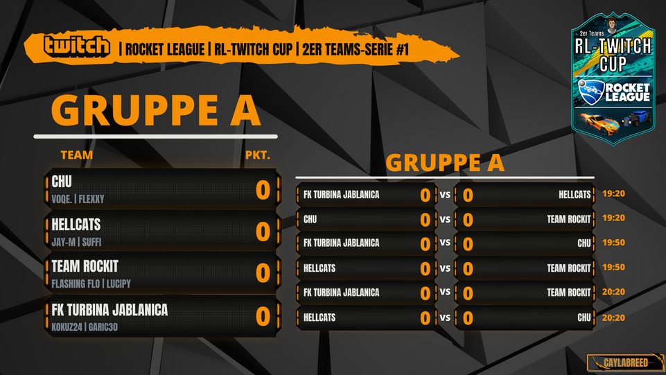 RL-TWITCH CUP 2er Teams #Serie 1 Gruppe