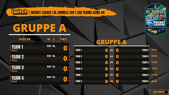 RL-RUMBLE CUP 3er Teams Gruppe A