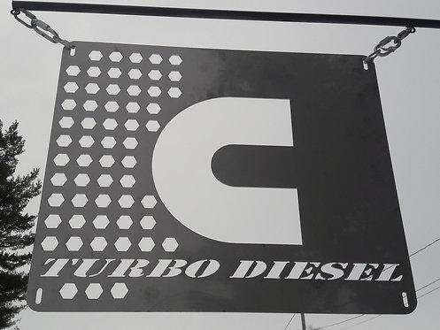 Cummins Turbo Diesel Sign