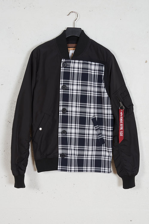 LIGHT PANEL BOMBER JACKET