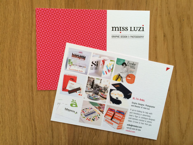 miss luzi portfolio cards