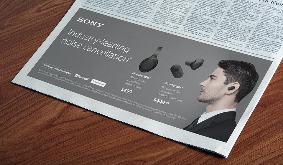 Sony press ad