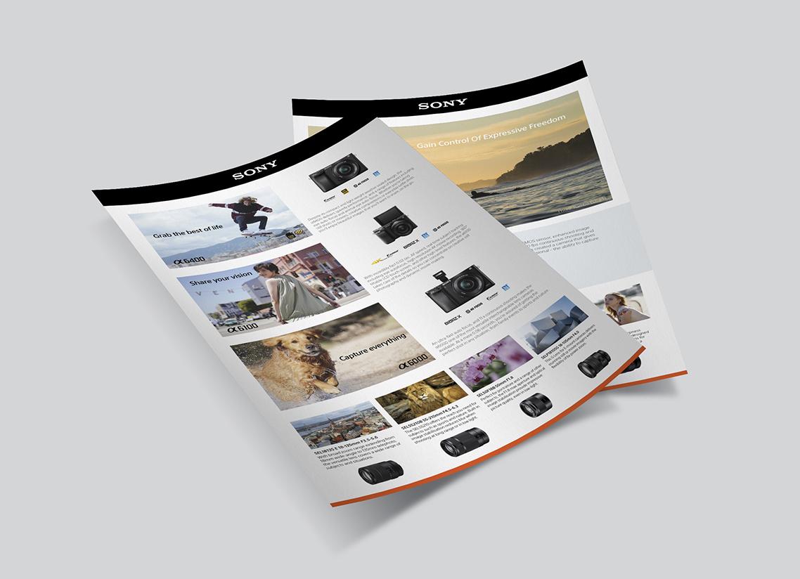 Sony buyers guide flyer