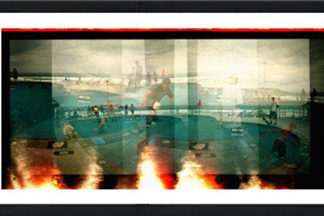 Burn-a-rama photo print
