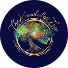 The Knowledge Tree Logo Blue Background