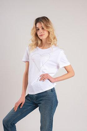 T-Shirt Coeur Bohème