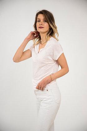 T-shirt Bohème rose pastel