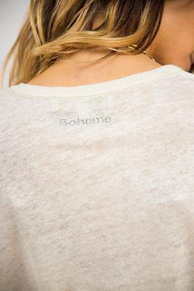 T-shirt Bohème paille