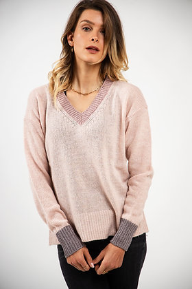 Pull cocooning finitions brillantes