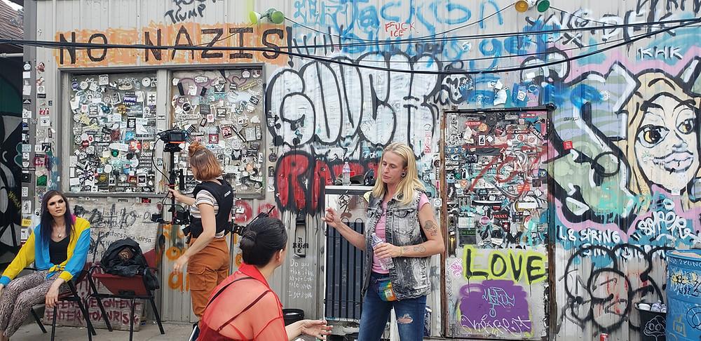 A film set at a punk venue