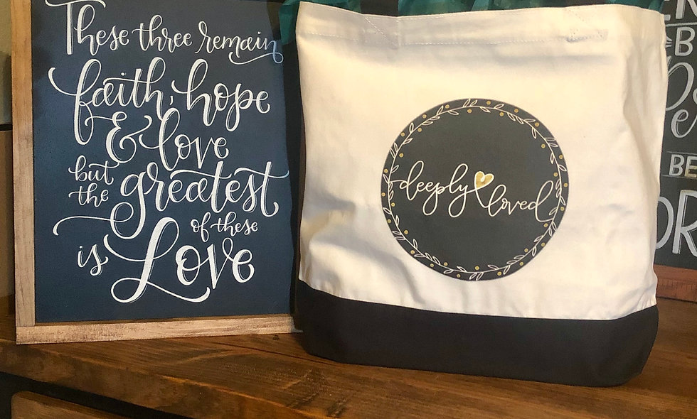 Deeply Loved Canvas Bag
