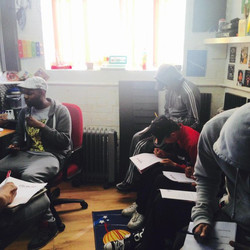 Lyric writing session at Chime