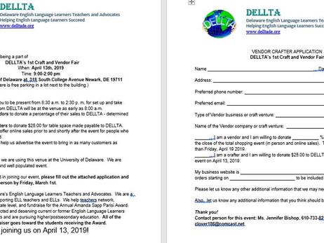 DELLTA 1st Craft & Vendor Fair