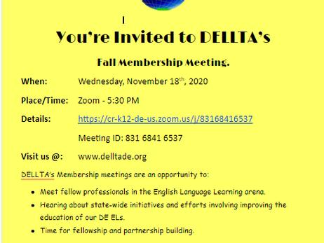 DELLTA Membership Invite