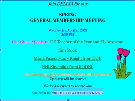 DELLTA Membership Reminder