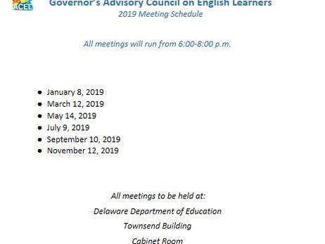 GACEL 2019 Meeting Schedule