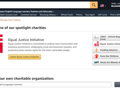 DELLTA is now an Amazon Smile Eligible Charity!