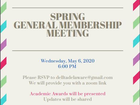 2020 Spring Membership DELLTA Invite