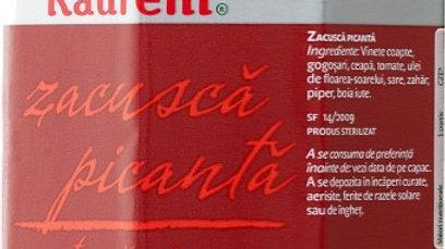 ZACUSCA Vegetable spread (spicy) Raureni - 314ml