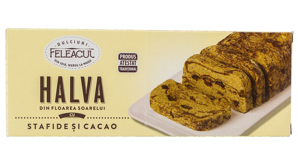 Fancy Halvah with Raisins and Cocoa Feleacul / Halva cu merisor si cac