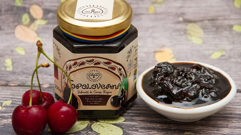 Topoloveana Gourmet Black Cherry Whole Fruit Spread