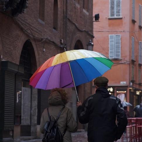 Bologna sotto la pioggia