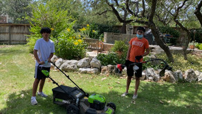 Lawn mowing to feed the homeless!