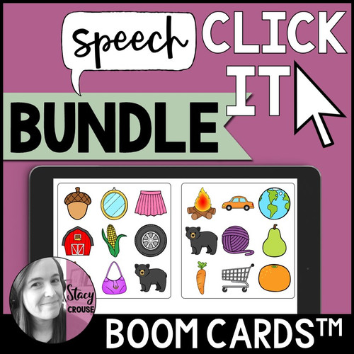 BUNDLE Speech Click It Articulation Game BOOM CARDS™