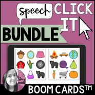 BUNDLE Speech Click It Articulation Game BOOM CARDS™