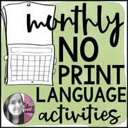 BUNDLE Monthly Language Activities