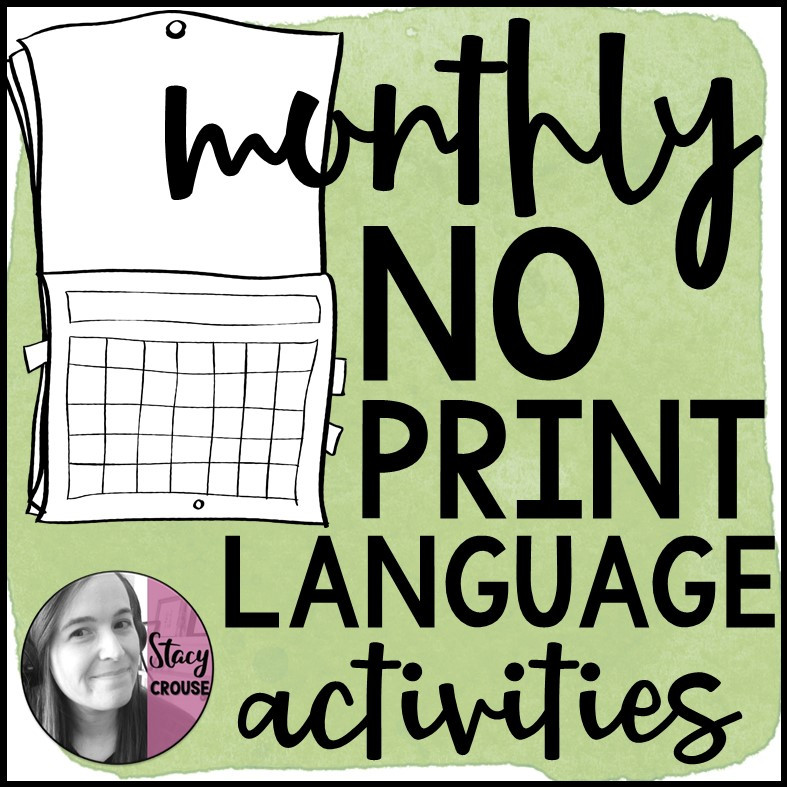 BUNDLE Monthly Language Activities