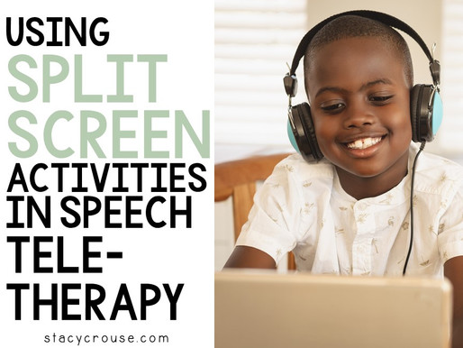 Using Split Screen Activities in Speech Teletherapy