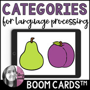 Categories BOOM CARDS™ for Language Processing