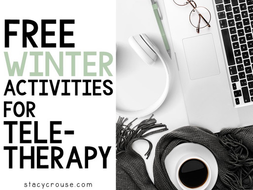 Free Winter Activities for Speech Teletherapy